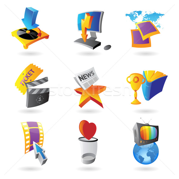 Stock photo: Icons for media