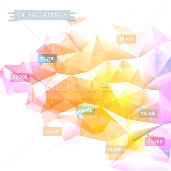 Infographics meetkundig laag communie vector eps10 Stockfoto © ildogesto