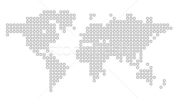Noktalı dünya haritası dünya model arka karo Stok fotoğraf © ildogesto