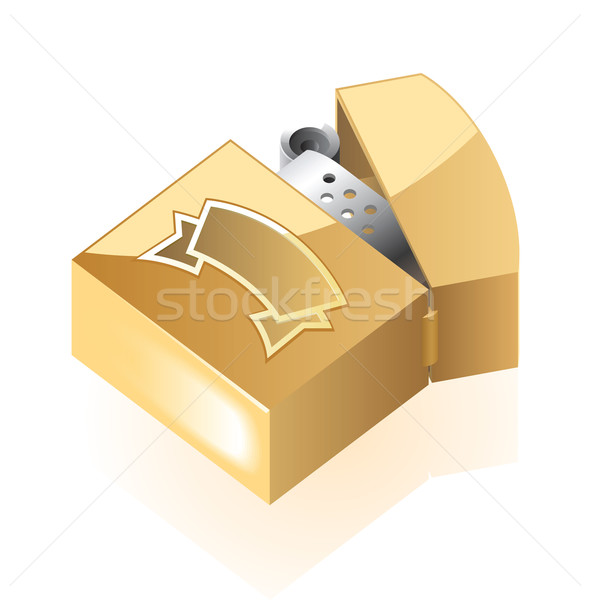 изометрический икона легче классический желтый металл Сток-фото © ildogesto