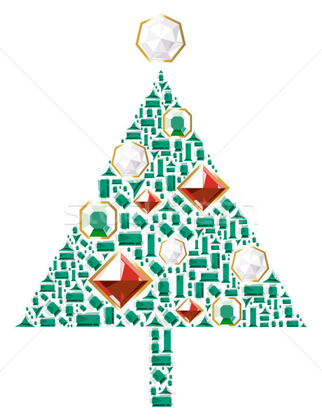 Christmas tree of gems Stock photo © ildogesto