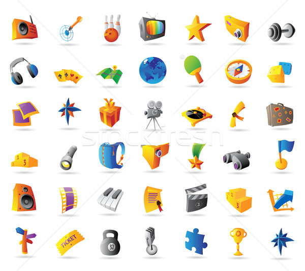 Icons for sport and travel Stock photo © ildogesto