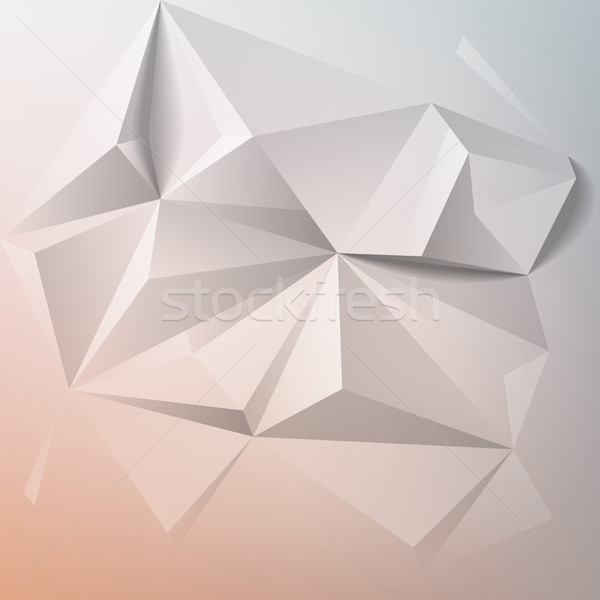 Abstract colorful geometric low poly background Stock photo © ildogesto