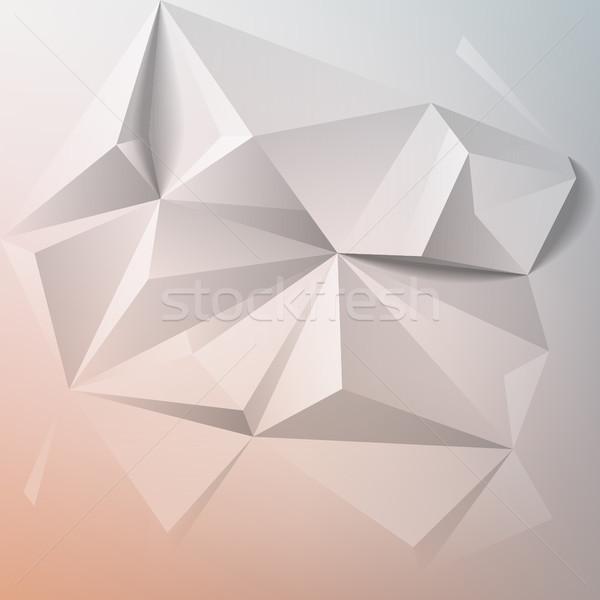 аннотация красочный геометрический низкий дизайна фон Сток-фото © ildogesto