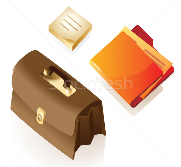 Isometric icons of stationery Stock photo © ildogesto