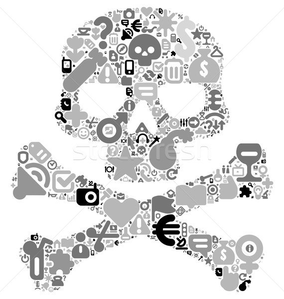 Concept of human skull Stock photo © ildogesto
