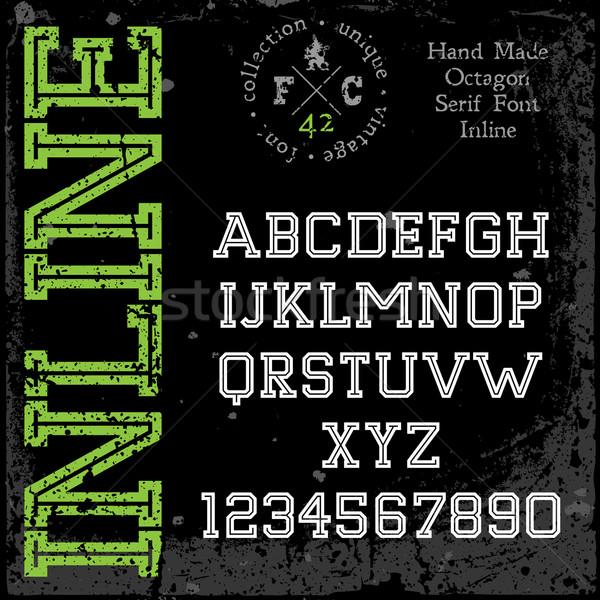 Handmade retro font Stock photo © ildogesto