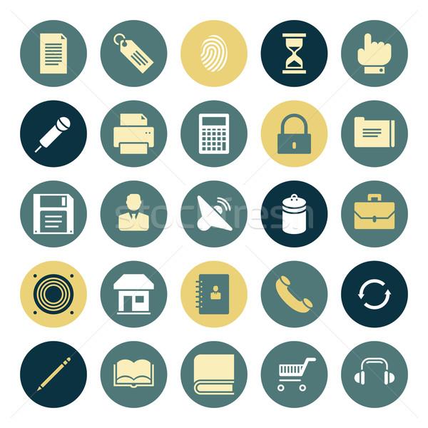 Projeto ícones usuário interface computador música Foto stock © ildogesto