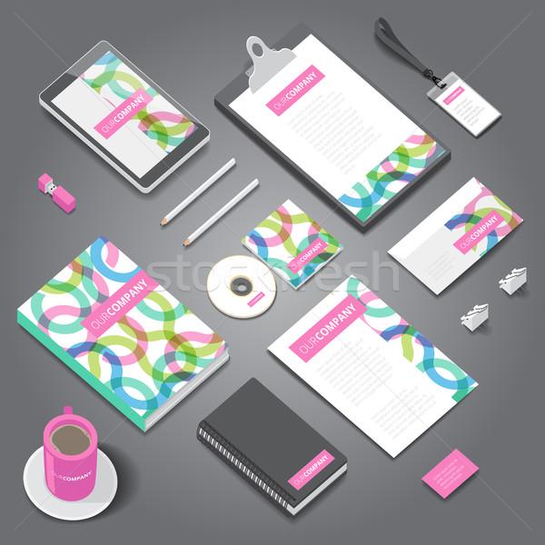 企業 アイデンティティ 印刷 テンプレート 文房具 オブジェクト ストックフォト © ildogesto
