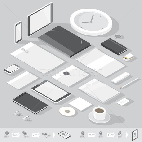 Isometric corporate identity template Stock photo © ildogesto