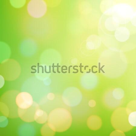 Kleurrijk bokeh feestelijk groene kleuren lichten Stockfoto © ildogesto