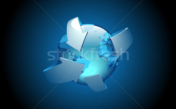 земле Стрелки бизнеса аннотация дизайна фон Сток-фото © ildogesto
