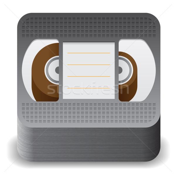 Icona video cassette bianco texture tecnologia Foto d'archivio © ildogesto