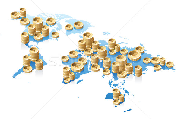 World map and money concept Stock photo © ildogesto