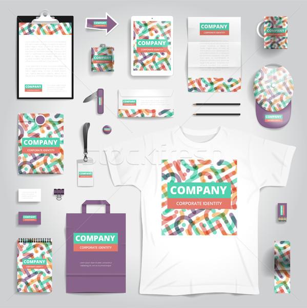 Stockfoto: Corporate · identiteit · print · sjabloon · schrijfbehoeften · objecten
