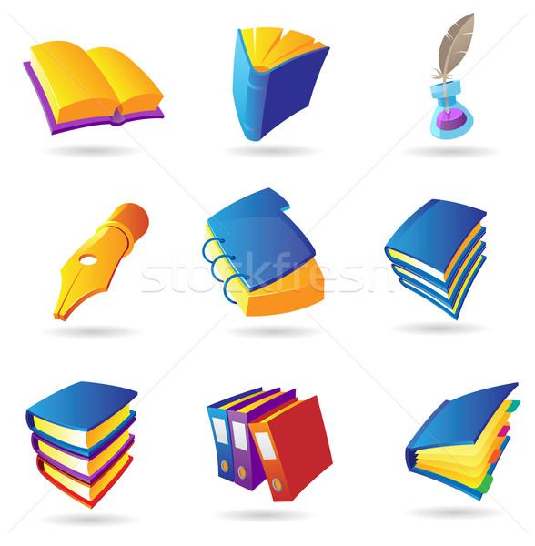 Icons for books Stock photo © ildogesto