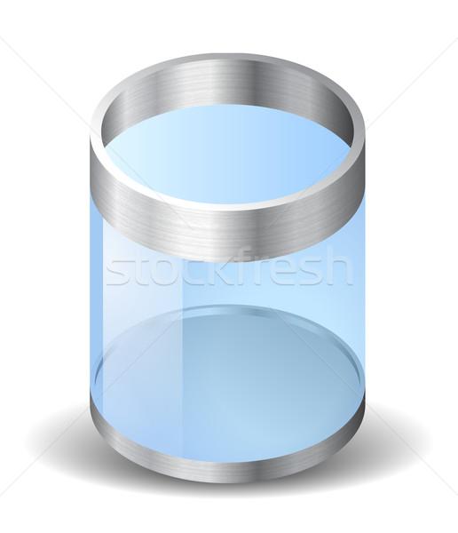 Ikon újrahasznosít tároló fehér textúra háló Stock fotó © ildogesto