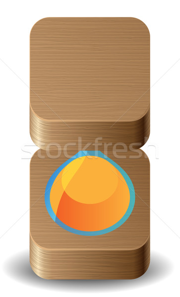 Icona clessidra bianco design vetro segno Foto d'archivio © ildogesto