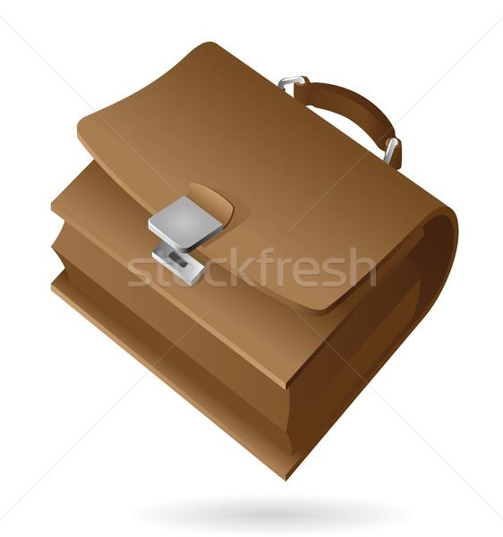 Isometrische icon aktetas web zak leder Stockfoto © ildogesto