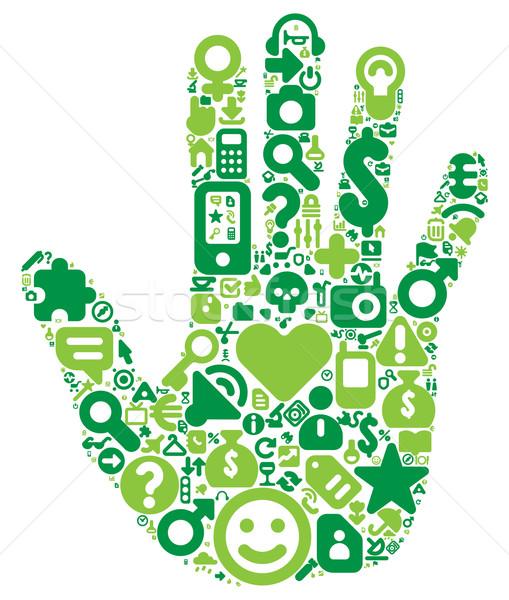 Concept of green human hand Stock photo © ildogesto