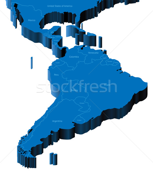 3d map of Latin America Stock photo © ildogesto