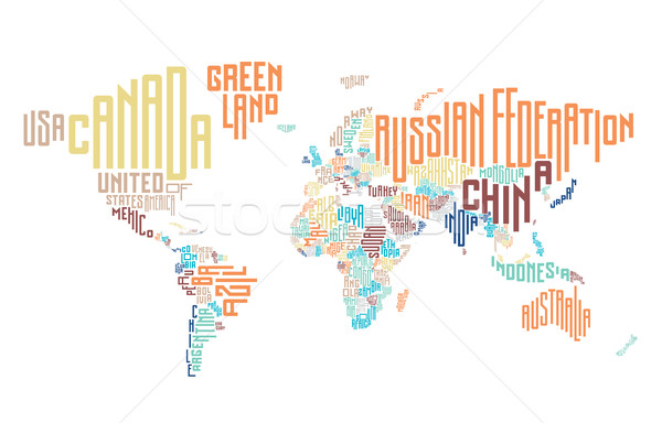 Foto stock: Mapa · do · mundo · país · globo · mapa · mundo