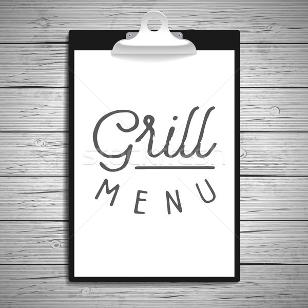 手描き スローガン 木材 レストラン レトロな ストックフォト © ildogesto
