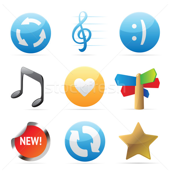 Stock photo: Icons for signs