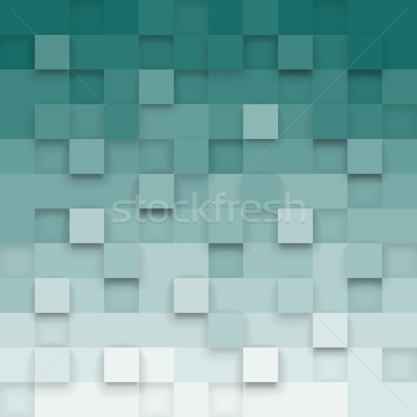 Geometric background with 3d cubes Stock photo © ildogesto