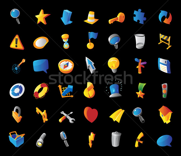 Icons for signs and metaphor Stock photo © ildogesto
