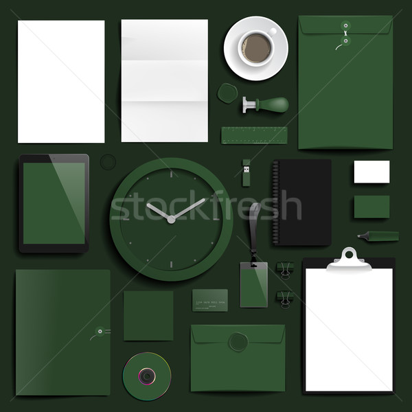 Corporate identity template Stock photo © ildogesto