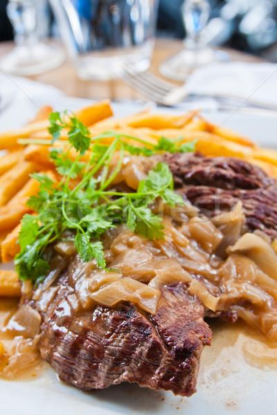 Lédús steak borjúhús marhahús hús paradicsom Stock fotó © ilolab