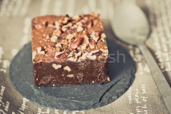 Chocolate Brownie cake  Stock photo © ilolab