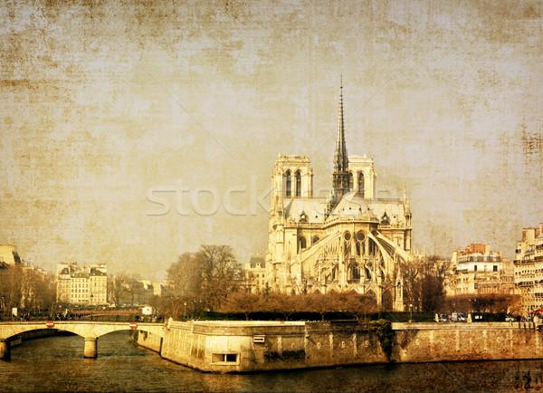 Antigo igreja prédio da igreja europa espaço texto Foto stock © ilolab