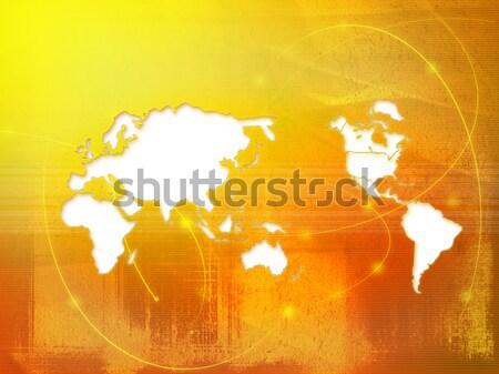 Világtérkép technológia stílus tökéletes űr szöveg Stock fotó © ilolab