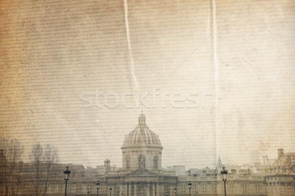 Gyönyörű párizsi utcák város háttér tapéta Stock fotó © ilolab