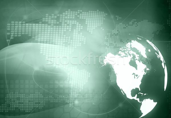 America Karte Technologie Stil Kunstwerk abstrakten Stock foto © ilolab