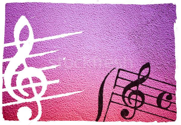 Musica abstract grunge melodia texture Foto d'archivio © ilolab