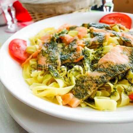 Garnéla rizs közelkép spanyol konyha étel hal Stock fotó © ilolab