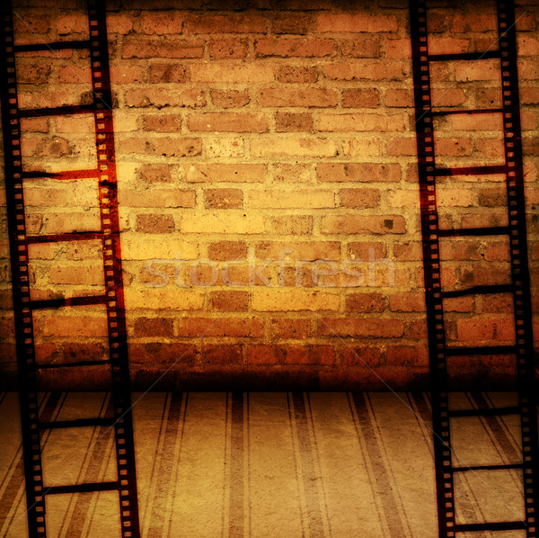 Stock fotó: Nagyszerű · filmszalag · textúrák · hátterek · keret · film