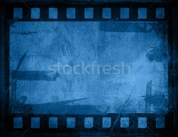 Groot filmstrip texturen achtergronden frame film Stockfoto © ilolab