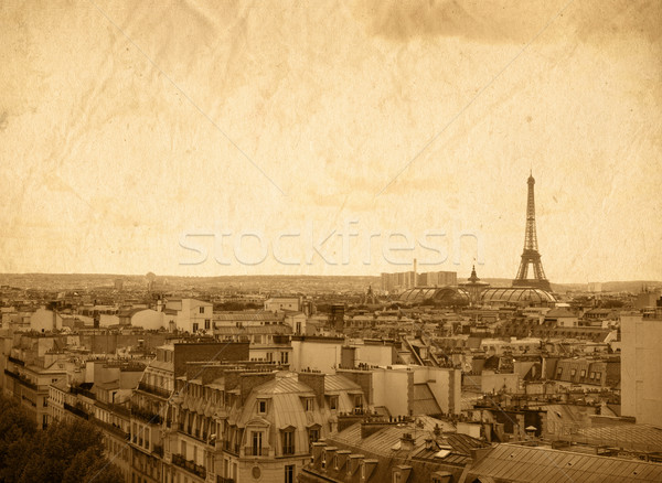 レトロスタイル パリ 美しい パリジャン 通り スペース ストックフォト © ilolab