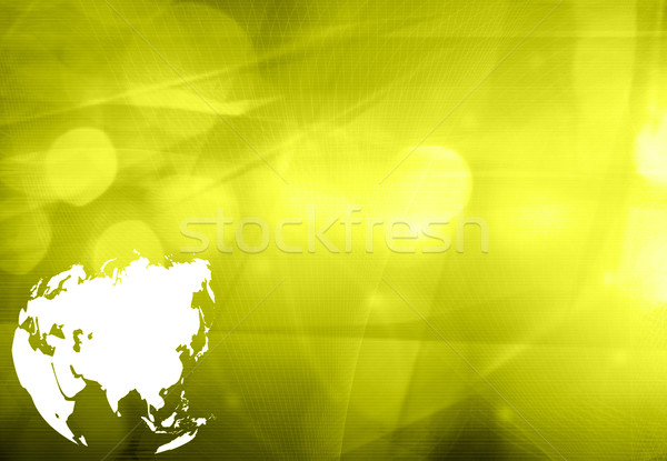 Asia map technology style artwork for your design Stock photo © ilolab