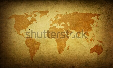 Сток-фото: Мир · карта · Vintage · идеальный · пространстве · текста