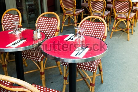 Stock photo: traditional Parisian coffee