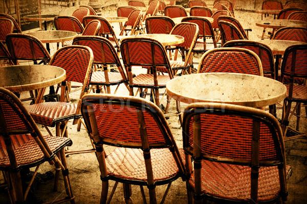 Kafejka taras retro kawy ulicy restauracji Zdjęcia stock © ilolab