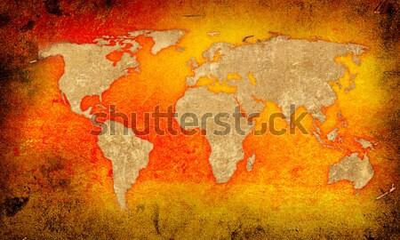 world map vintage artwork Stock photo © ilolab