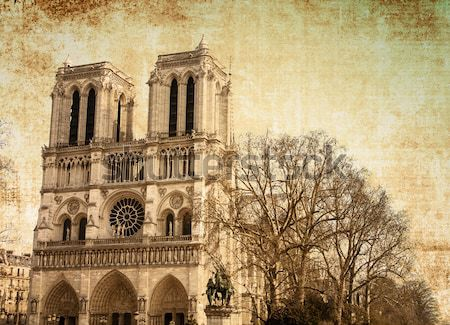 Notre Dame Cathedral in paris  Stock photo © ilolab