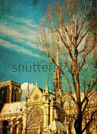 Gyönyörű párizsi utcák Párizs Franciaország űr Stock fotó © ilolab