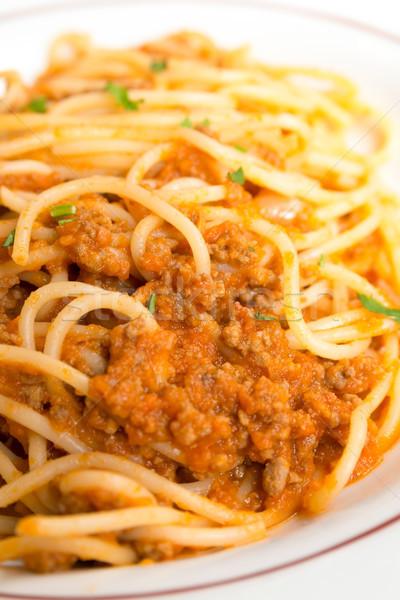 итальянский мяса соус пасты вкусный таблице Сток-фото © ilolab